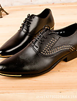 Men's Oxfords Comfort Leather Casual Black White
