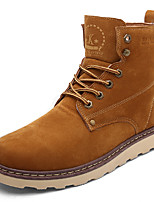 Men's Boots  Work & Safety PU Outdoor / Casual Flat Heel Lace-up Black / Yellow Walking / Others