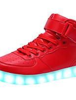 Unisexe-Extérieure Décontracté Sport-Noir Rouge Blanc-Talon Bas-Confort Light Up Chaussures-Baskets-Cuir