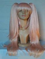супер danganronpa 2 Junko Эносима 65см длинный розовый хвостики высокого качества девушки косплей костюм парик