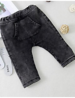 Baby Casual/Daily Solid Pants,Cotton Winter / Fall Black
