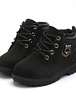 Boy Girl's Kids Martin Boots Spring / Fall / Winter Comfort / Ankle Strap Leather Outdoor / Casual Low Heel Lace-up Black / Brown / Khaki
