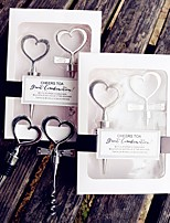 CHEERS TO A GREAT COMBINATION WINE SET Bride and Groom Bottle Opener Bottle Stopper Favors