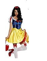 Costumes de Cosplay / Costume de Soirée Princesse / Conte de Fée Fête / Célébration Déguisement Halloween Bleu Mosaïque Robe / Coiffure