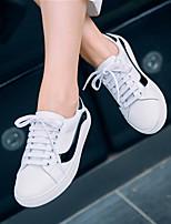 Damen-Sneaker-Lässig-Leder-Flacher Absatz-Komfort-Weiß