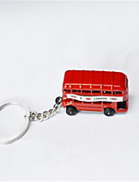 British Double - Decker Bus Car Keychain