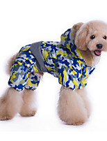 Dog Hoodie Yellow / Blue Dog Clothes Winter / Spring/Fall Camouflage Sports /