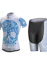 Sports Cycling Jersey with Shorts Men's Short Sleeve BikeBreathable / Quick Dry / Anatomic Design / Front Zipper / Back Pocket / 3D Pad /