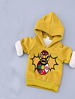 Girl's Embroidered Hoodie & Sweatshirt,Cotton Spring / Fall Red / Yellow