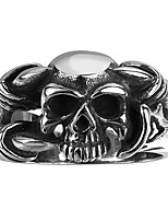 Fashion Men Jewelry Death Skull Head Ring Stainless Steel Men Rings Evil Skeleton Witcher Face Claw Punk Rings