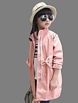 Girl's Casual/Daily Solid Blouse / Trench CoatCotton Winter Black / Pink