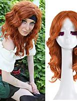 brownness tinker bell e fada do pirata zarina cosplay peruca do partido do dia das bruxas perucas de onda alta tempurature