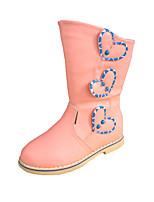 Розовый-Для девочек-Для праздника Повседневный-Полиуретан-На плоской подошве-Удобная обувь-Ботинки