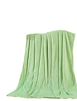 Flannel Green,Solid Solid 100% Polyester Blankets 200x230cm
