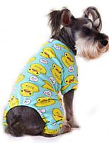 Коты / Собаки Футболка / Комбинезоны / Пижамы Несколько цветов Одежда для собак Лето / Весна/осень Мультфильмы Милые / На каждый день