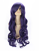 Purple Color Curly Synthetic Wigs For Afro Women