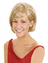 Blonde Color Short Straight Synthetic Wigs Capless For Afro Women