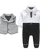 Baby Casual/Daily Solid Clothing Set-Cotton-Winter / Spring / Fall-Black / Gray