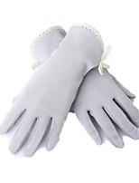toucher courts gants fins uv écran (gris)