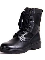 Men's Boots Winter Platform Cowhide Outdoor Black