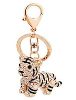 Small tiger shape alloy key ring