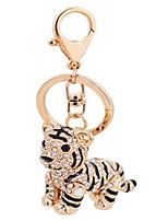 брелок сплава небольшой формы тигра