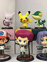 Pika Pika PVC 9cm Anime Action Figures Model Toys Doll Toy  1set