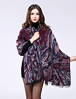 NITE OWL  Women Polyester ScarfCasual RectangleRedPrint-16025