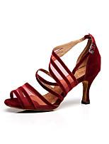Customizable Women's Dance Shoes Lace Lace Latin / Dance Sneakers Sandals Stiletto Heel Practice / Beginner /