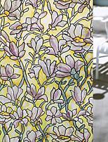 A fleurs Contemporain Film de Fenêtre,PVC/Vinyl Matériel Décoration de fenêtre