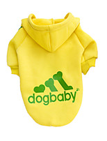Собаки Толстовки Красный / Желтый / Черный / серый Одежда для собак Зима / Весна/осень Однотонный Мода