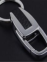 металлическое кольцо брелка творческое изготовленное на заказ вычет кожа ключа автомобиля мужской