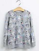 Girl Casual/Daily Print Hoodie & Sweatshirt,Cotton Fall Long Sleeve Regular