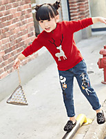 Girl's Casual/Daily Solid Sweater & CardiganCotton Winter / Fall Green / Red