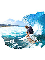 3D Fashion Surfing Sport 3D Wall Stickers Removable Living Room Bedroom Wall Decals