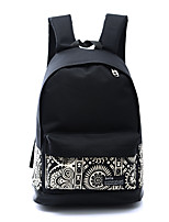 Sports Casual Outdoor Backpack Unisex Canvas Polyester Black