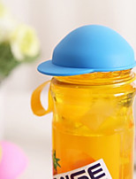 Silicone Cup Cover Glass Hat Shape Cup Cover Anti-dust Put On IT Coffe Mug Lid Random Color