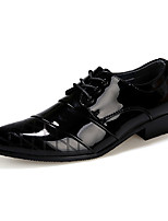 Men's Oxfords Spring Fall Comfort PU Casual Party & Evening Flat Heel Lace-up Others Black