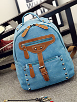 Casual Backpack Unisex Canvas Blue Green Brown Red Black Khaki