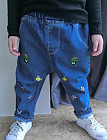 Boy's Casual/Daily Print PantsCotton Winter / Spring / Fall Blue