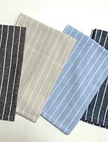 ריבוע פסים משטחי שולחן , פשתן חוֹמֶר שולחן Dceoration 4