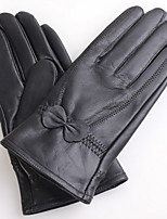 luvas de jacquard quente arco de alto grau (preto)