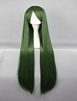 New Style Touhou Project Mima  Special Dark Green 100cm Long Straight Cosplay Wig
