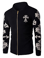 Men's Going out / Casual/Daily Simple JacketsSolid / Floral Stand Long Sleeve Spring / Cotton Thin hot sale