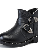 Boy's Boots Comfort Leather Casual Black Yellow