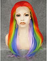 IMSTYLE 24''Drag Queen Colorful Long Natural Straight Synthetic Lace Front Wigs