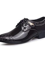 Черный / Коричневый-Мужской-Для офиса / На каждый день / Для вечеринки / ужина-Кожа-На толстом каблуке-Others-Туфли на шнуровке