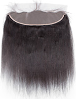 4x13 Closure Yaki Straight Human Hair Closure Medium Brown Swiss Lace about 50g gram Average Cap Size