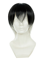 Tokyo Ghoul Ken Kaneki Black And White Gradient Short Halloween Wigs Synthetic Wigs Costume Wigs