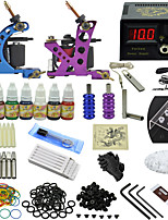 Ophir Blue Purple Tattoo Machine Tattoo Set with Aluminum Tattoo Grip  7x Ink